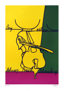 Original signed lithograph de  : Moments musicaux