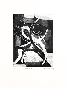Original signed etching de  : Caverne II