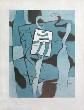 Original signed lithograph de Baumeister Willi : The painter