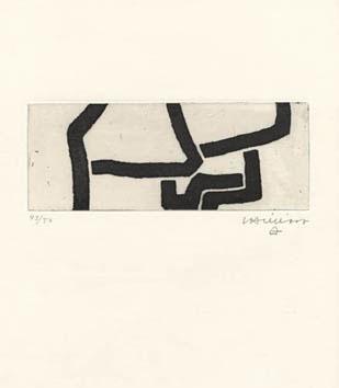 Chillida Eduardo : Gravure originale : Continuation IV