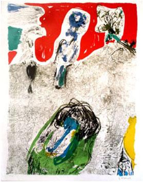 Jorn Asger : Lithographie originale : Série Prisunic