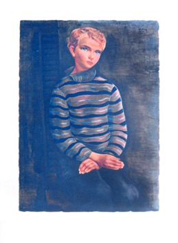 Lithograph after de Kisling Moïse : Young boy