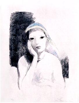 Laurencin Marie : Lithographie : R�veries de Marie