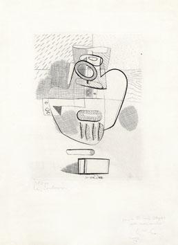 Le Corbusier : Gravure signée : Still life