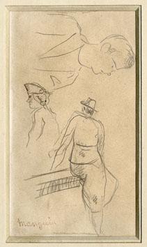 Manguin Henri : Dibujo : La Sra. Michaud y...