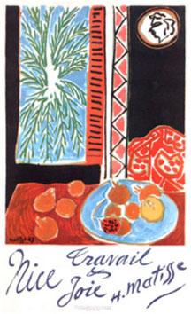 Matisse Henri : Affiche : Nice Travail, Joie