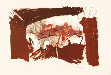 Rebeyrolle Paul : Lithographie originale signée : Nu