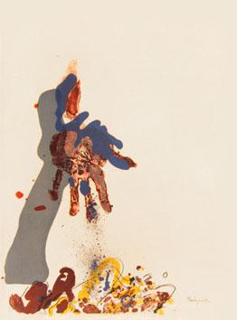 Rebeyrolle Paul : Lithographie originale : Affiche avant la lettre