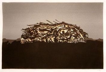 Saura Antonio : Lithographie : Goya, portrait imaginaire