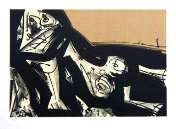 Saura Antonio : Lithographie originale signée : Kafka