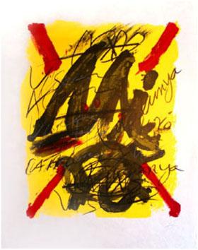 Tàpies Antoni : Lithographie : L'émerveillé merveilleux
