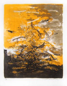 Zao Wou Ki : Lithographie originale : Composition I