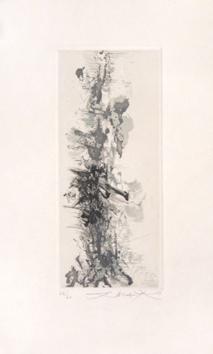 Zao Wou Ki : Gravure : Terrasses de Jade
