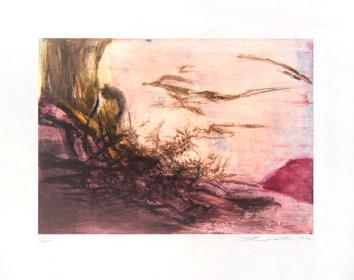 Zao Wou Ki : Gravure originale : Composition II