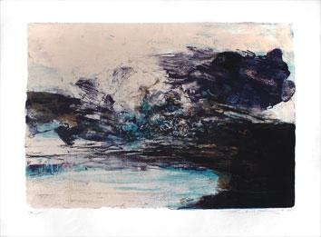 Zao Wou Ki : Lithographie signée : Composition III