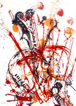 Arman : Lithographie : Sans titre II
