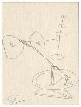 Calder Alexander : Dessin : Etude pour un mobile I
