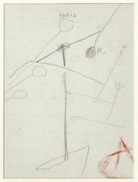 Calder Alexander :  : Etude pour un mobile III