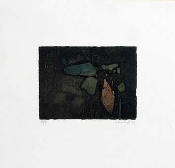 Original signed etching de La Bourdonnaye A. (de) : Untitled II