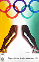 Lithograph poster de Jones Allen : Olympics games of Munich