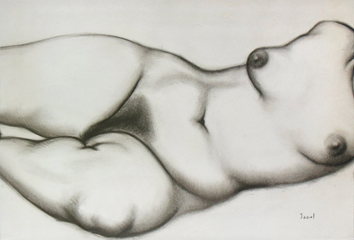 Signed drawing de  : Study of a nude II