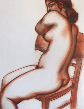 Signed drawing de  : Study of a nude III
