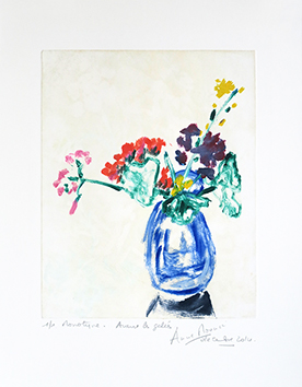 Original signed monotype de Mounic Anne : Avant les gelées
