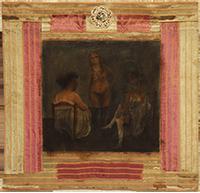 Technique mixte originale signée de  : Les auras - Trois femmes