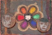 Peinture sur bois de  : Portraits
