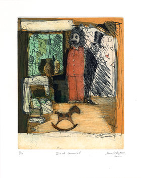 Etching signed de  : Day of Carnaval