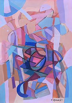 Gouache originale signée de  : Composition V