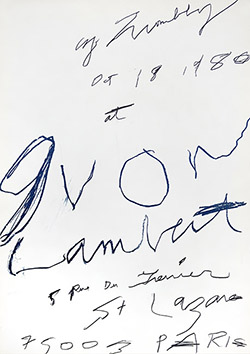 Twombly Cy : Affiche originale : Galerie Yvon Lambert