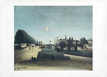 Lithographie nach dem Künstler de  : Ein Blick der Insel Saint-Louis