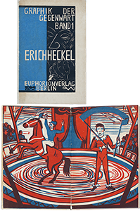 Book with prints de  : Graphik der Gegenwart, Band 1: Erich Heckel