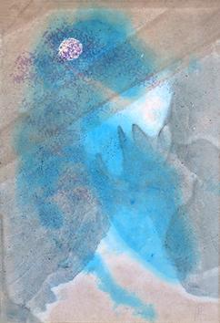 Signierte Original-Aquarell de  : Abstrakte Komposition VII