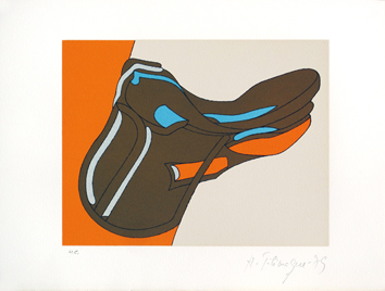 Telemaque Herv� : Original signed lithograph : 15 years of graphic works