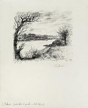 Gravure originale signée de  : Le Cahier vert I