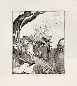 Original signed etching de  : The Beginning or The End