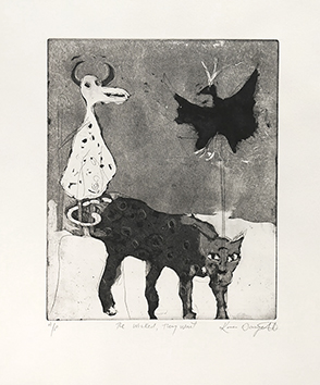 Original signed etching de  : The wicked, they wait