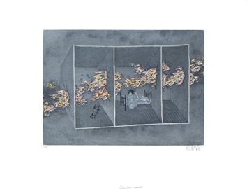 Original signed etching de  : Les passes-murailles