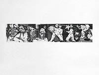 Gravure originale signée de  : Titre inconnu VI