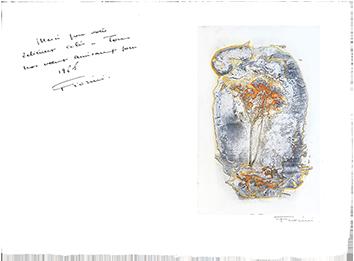 Gravure originale signée de  : Carte de voeux 65