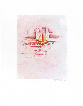 Original signed etching de  : Greeting card 66