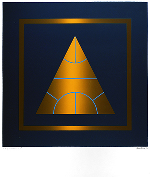 Signierte Originalserigraphie de  : Pyramide 308