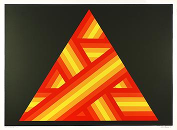 Signierte Originalserigraphie de  : Pyramide 304