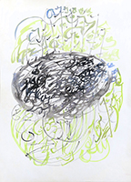 Gouache originale signée de  : Composition VIII
