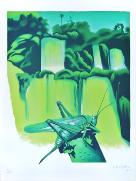 Original signed lithograph de Uriburu Nicolas : The grasshopper
