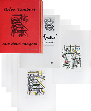 Book with lithographs de  : Aux deux magots