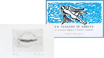 Book with etching de  : Un viaggio in Grecia