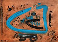 Technique mixte originale signée de  : Composition sans titre VII